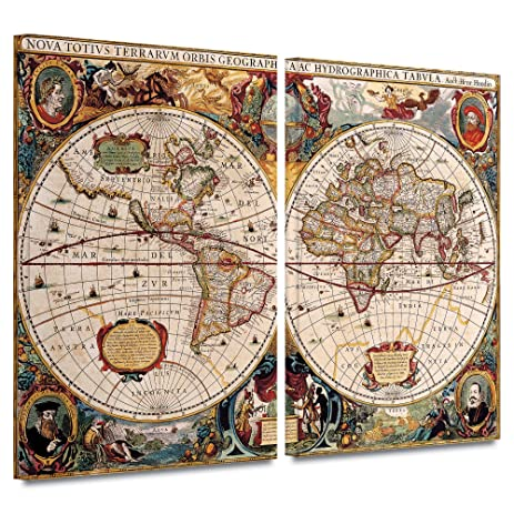 Amazon art wall henricus hondius a new and accurate map of the art wall henricus hondius a new and accurate map of the world gallery gumiabroncs Choice Image