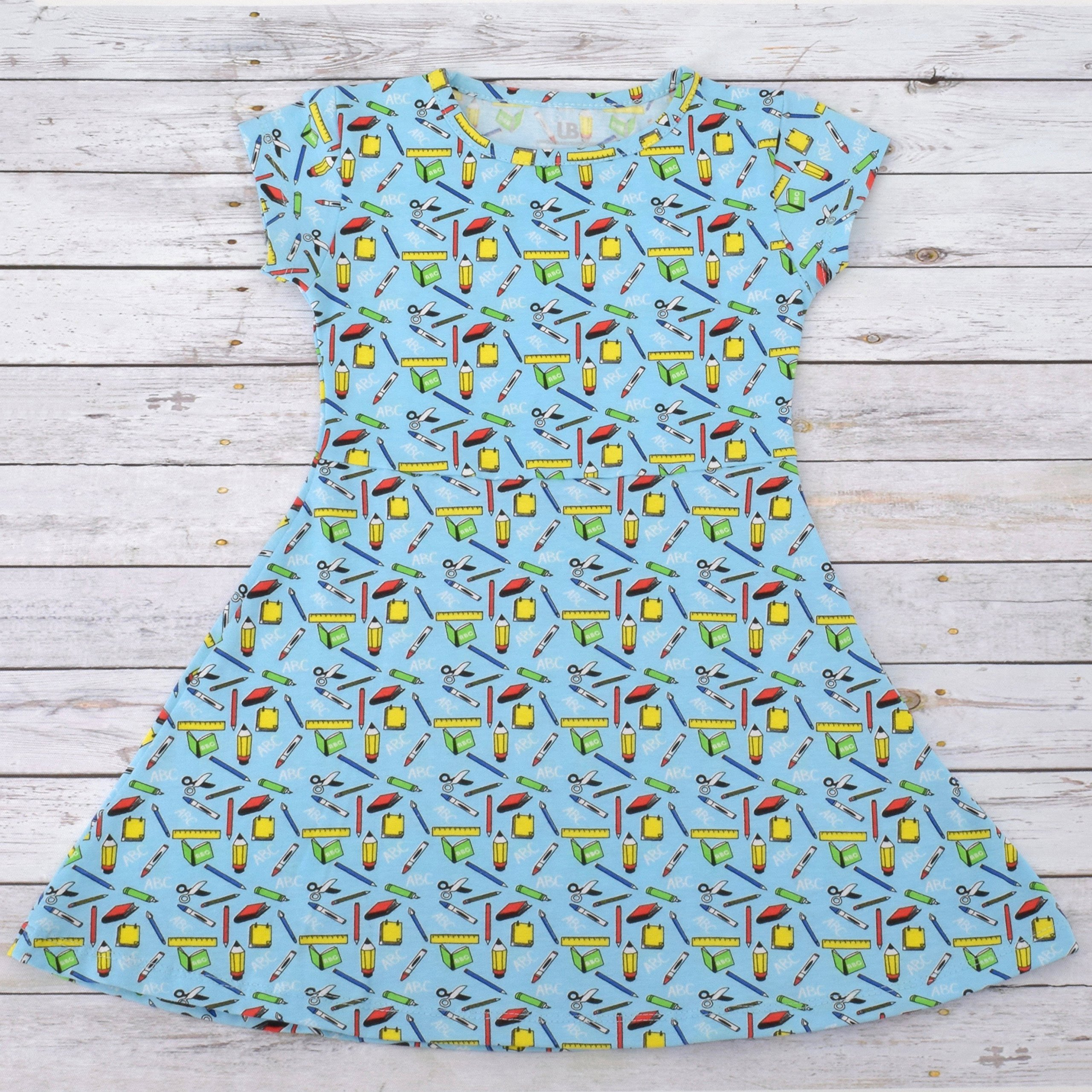 Unique Baby Girls Back to School Dress (6, Blue) by Unique Baby (Image #4)