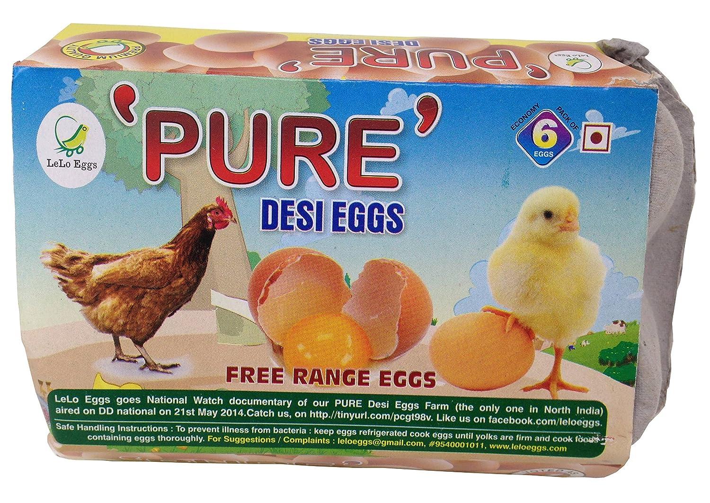 Pure Eggs - Desi, 6 Pieces Box