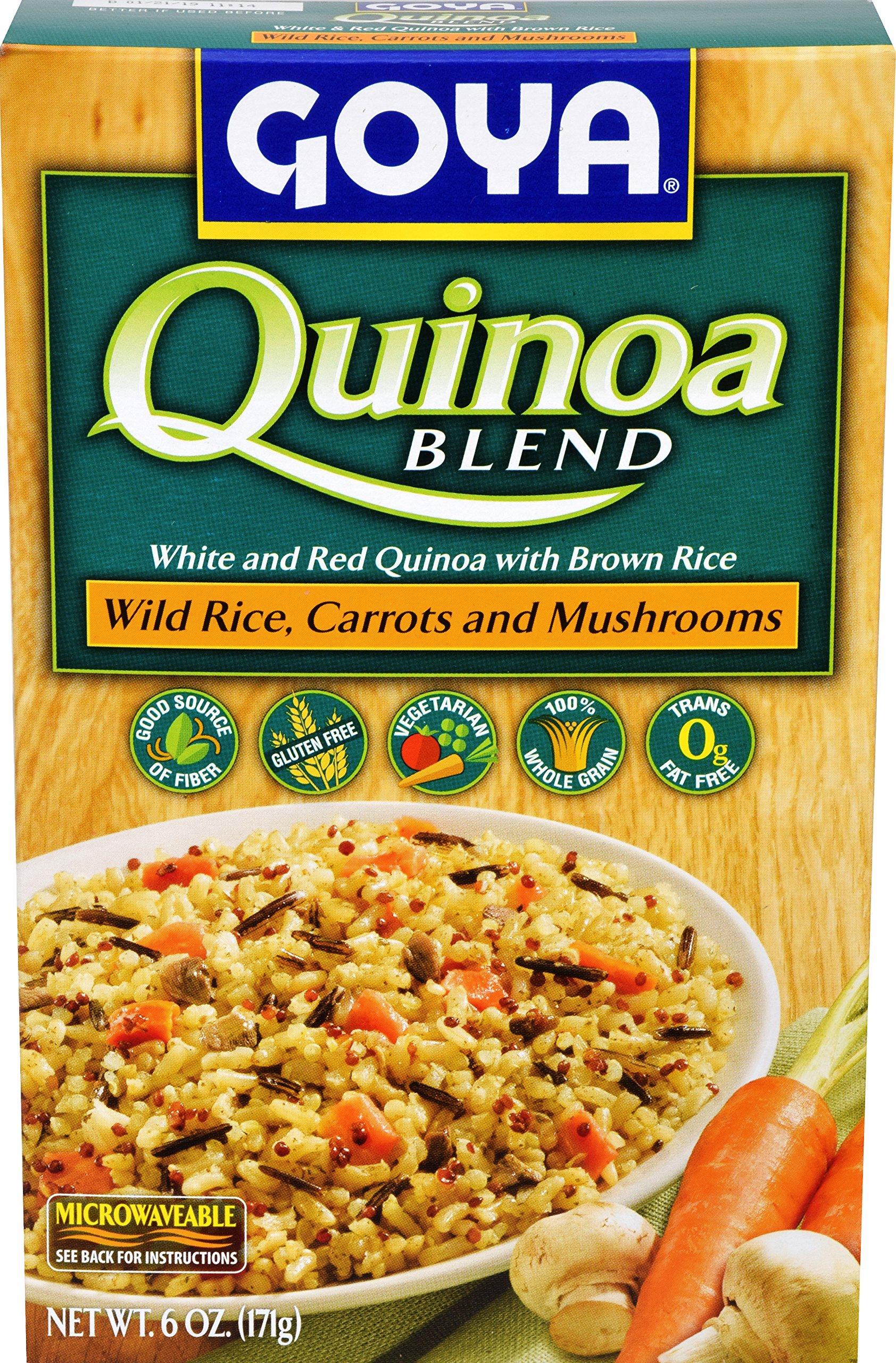 Goya Quinoa Blend Wild Rice, Carrots & Mushrooms, 6 oz by Goya