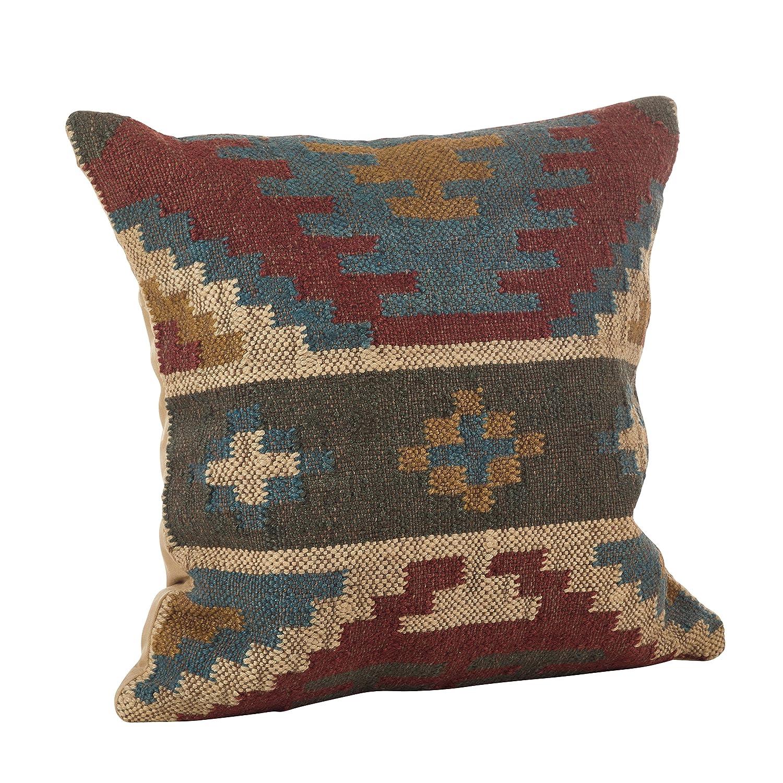SARO Lifestyle Collection Kilim Design Down Filled Throw Pillow, 20, Red 20 5006.M20S
