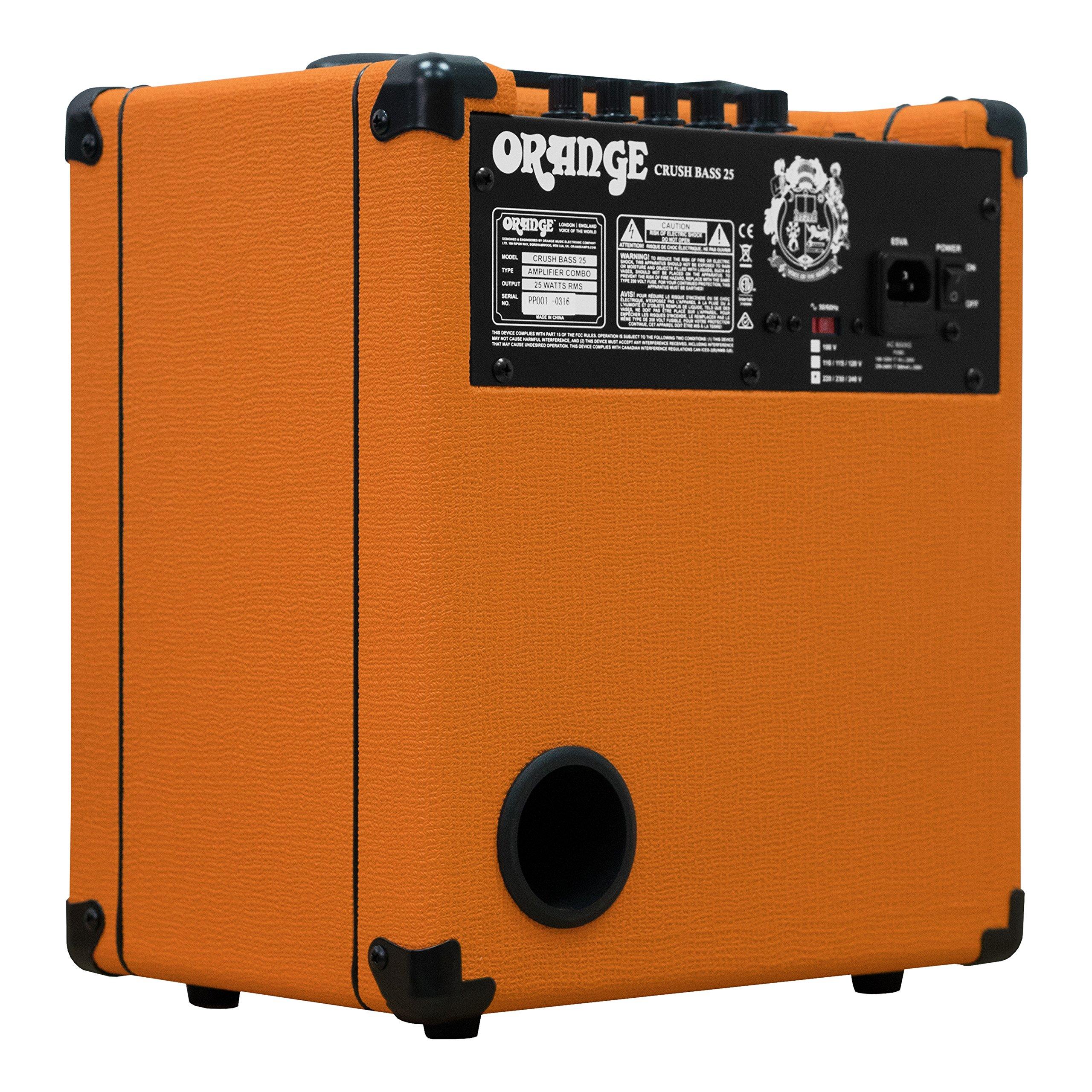 Orange Crush Bass 25W Bass Guitar Combo Amp, Orange by Orange Amps (Image #8)