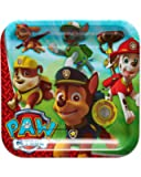 """American Greetings PAW Patrol Square Plate (40 Count), 9"""""""