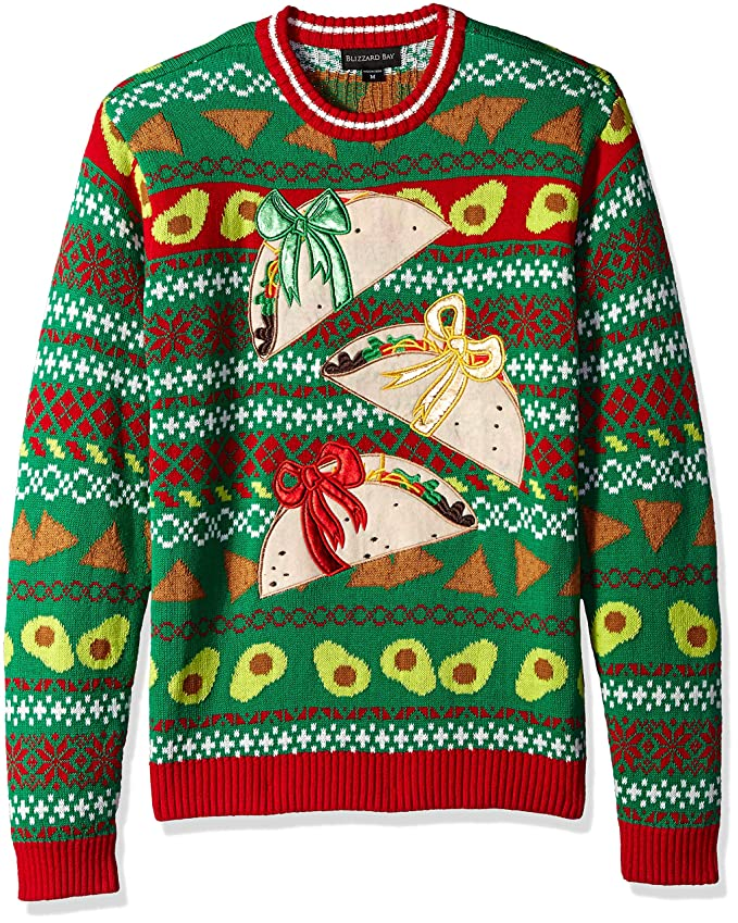 Ugly Christmas Sweater with 3 Taco presents