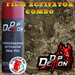 Hydrographic Film Combo Red Bandana Dip Ape Activator Water Transfer Crafts