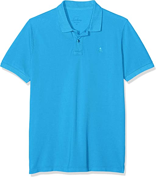 Scalpers Basic Polo, Azul (Blue 18033), Small (Tamaño del ...