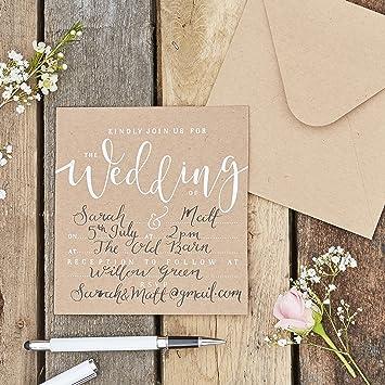 Einladungskarte Wedding Rustic Country 10 St Einladung Hochzeit