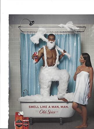MAGAZINE ADVERTISEMENT For Old Spice 2010 Smell Like A Man