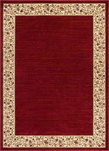 Well Woven Barclay Terrazzo Red Transitional Area Rug 7'10″ X 9'10″