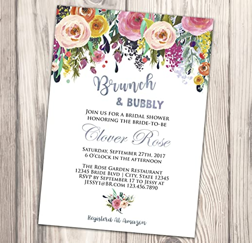 547ab11d27af Amazon.com  Brunch and Bubbly Bridal Shower Invitation - Wedding Shower  Invite - Couples - Engagement - 4x6  Handmade