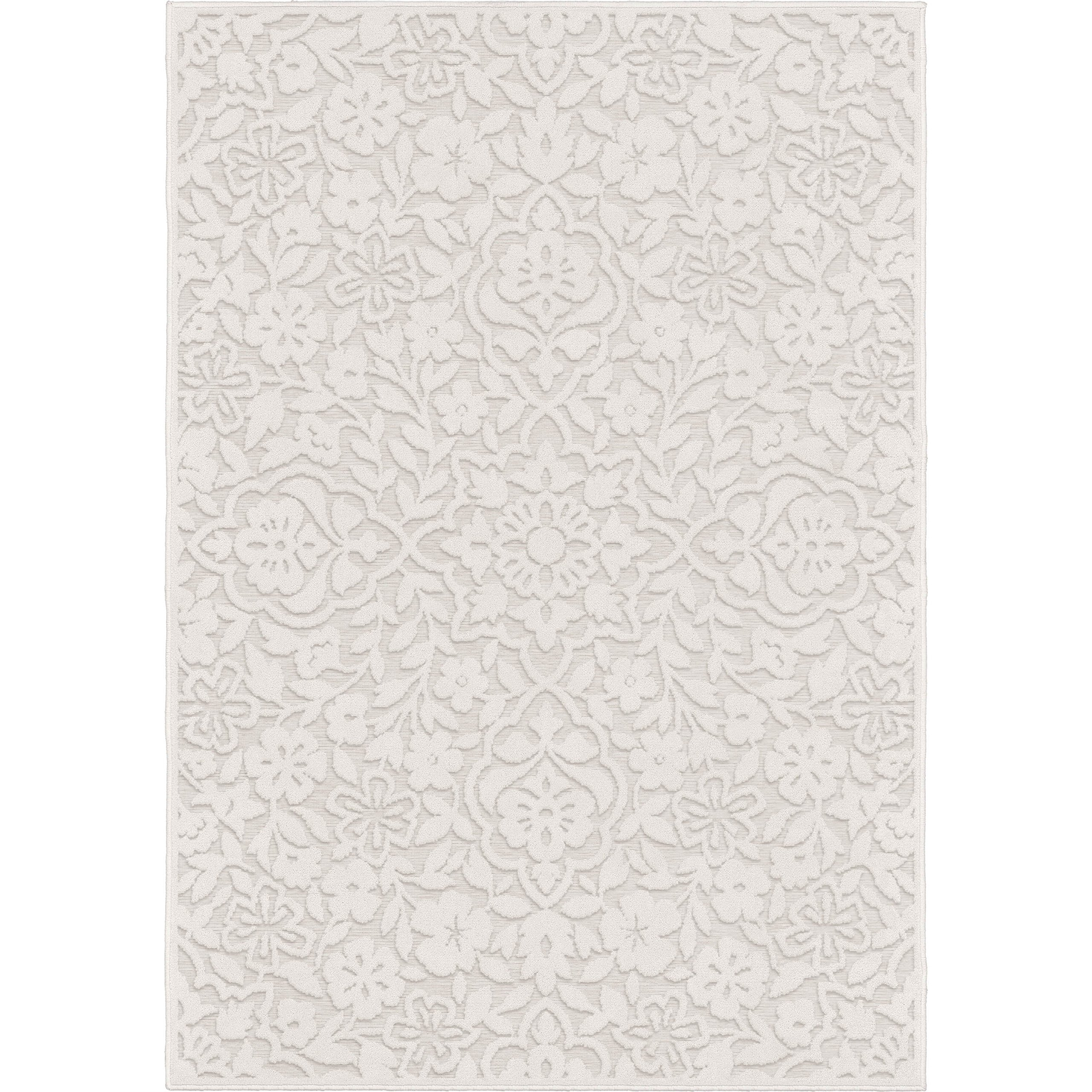"""Orian Rugs Boucle Canada: Orian Rugs Boucle' Cottage Floral Natural Area Rug, 5'2"""" X"""