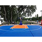 Mats Inc. Bergo Basketball Court Tiles, Large Court (30.7u0027 X 27.46u0027