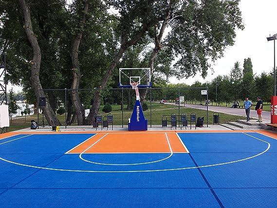 Alfombrillas Inc. Bergo azulejos y cancha de baloncesto, color ...