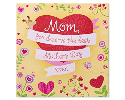 Amazon Com American Greetings Best Mom Mother S Day Card With