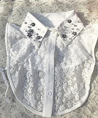 Womens Detachable Half Shirt Fake Collar Lace False Collar Black One Size