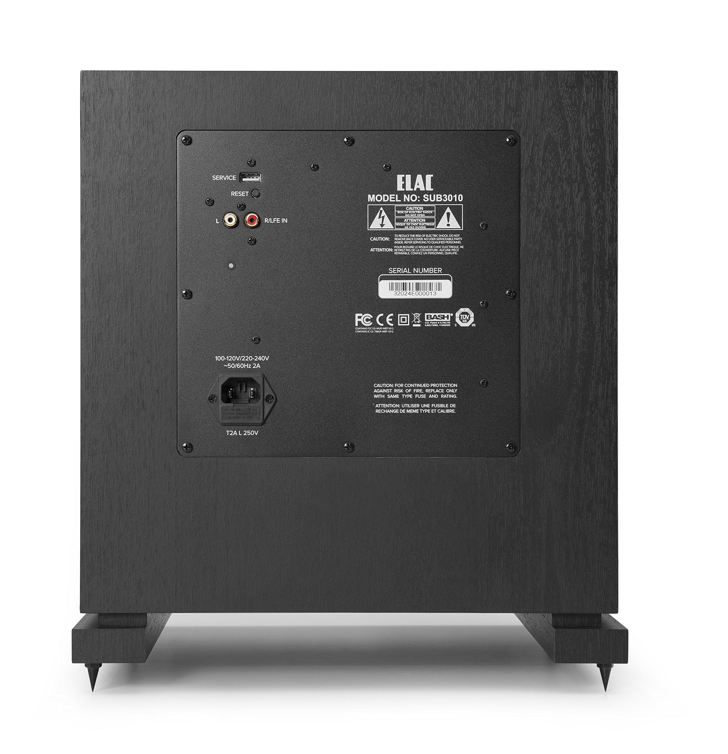 ELAC Debut 2.0 SUB3010 400 Watt Powered Subwoofer, Black by Elac (Image #3)