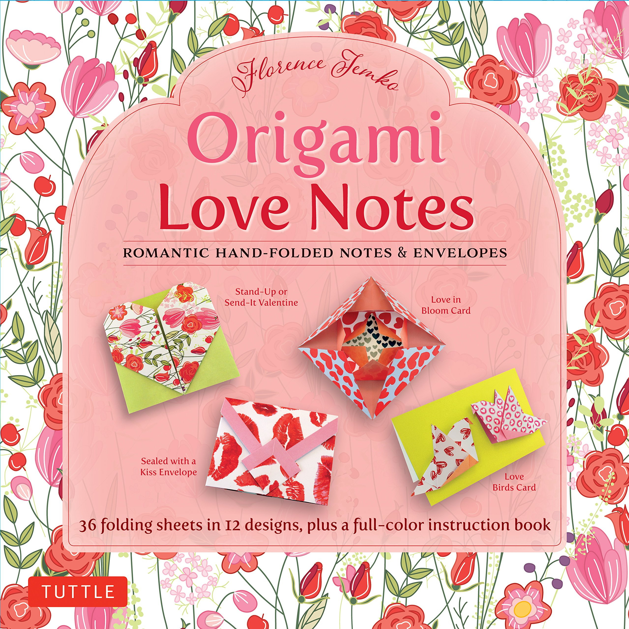 Amazon Origami Love Notes Kit Romantic Hand Folded Envelopes With Book 12 Original Projects And 36 High Quality Papers