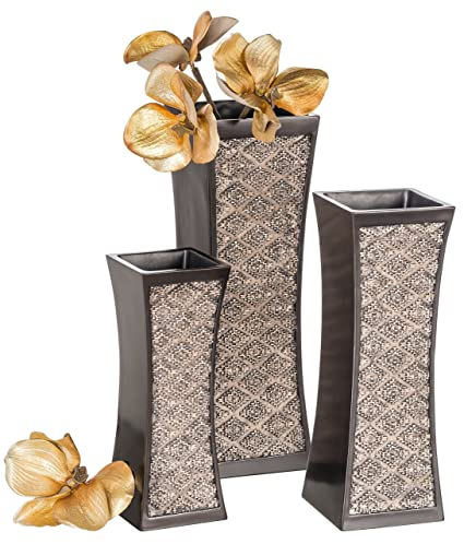 Amazon Com Dublin Decorative Vase Set Of 3 In Gift Box Durable