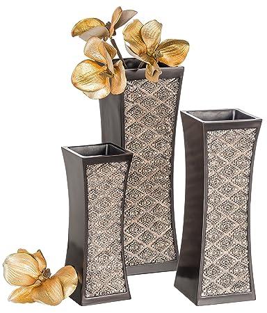 Amazon Dublin Decorative Vase Set Of 3 In Gift Box Durable