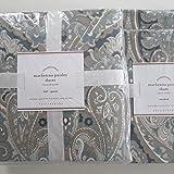 Pottery Barn MACKENNA PAISLEY Duvet Full/Queen & Two Standard Shams Blue NWT