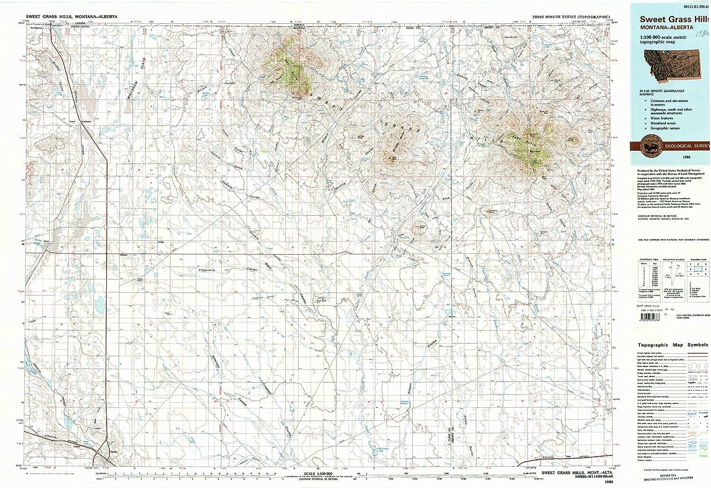 sweetgrass hills montana map Amazon Com Yellowmaps Sweet Grass Hills Mt Topo Map 1 100000