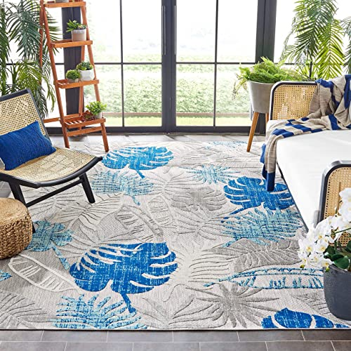 Safavieh Cabana Collection CBN831F Botanical Indoor/ Outdoor Non-Shedding Stain Resistant Patio Backyard Area Rug