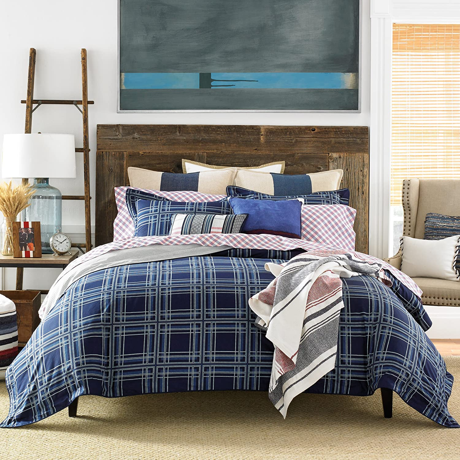Tommy Hilfiger Farmhouse Plaid forter Set King Blue Amazon