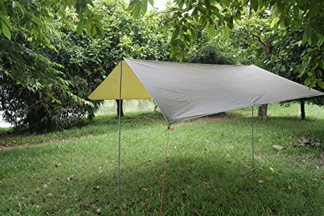 Eleoption Portable Lightweight Waterproof Survival Tarp Shelter Suitble For 3 To 4 Person 95 By