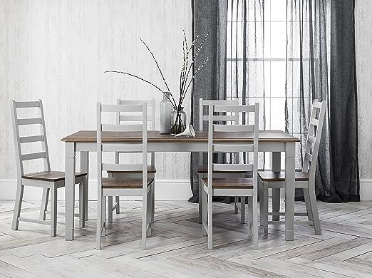 Noa & Nani – Juego de mesa de comedor y 6 sillas Canterbury, en ...