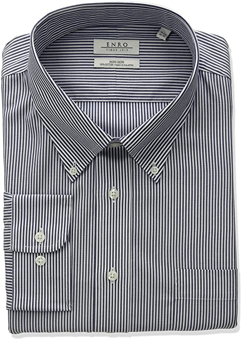 Enro Mens Classic Fit Big-Tall Solid French Cuff Dress Shirt