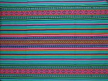 """Hermoso y colorido manta peruano Inka motivos – 98 """" ..."""