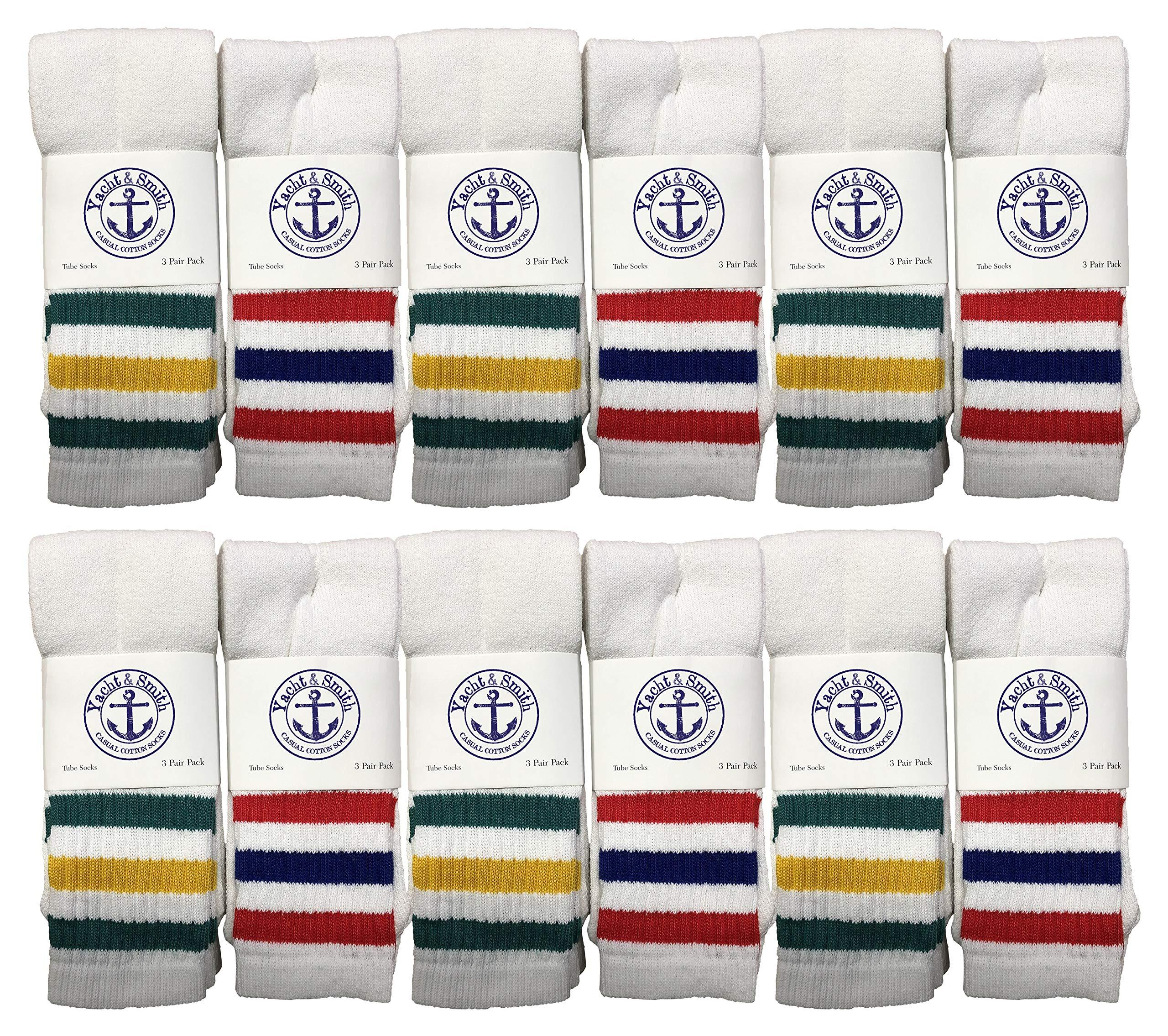 Yacht & Smith Wholesale Women's Tube Socks, Women's Cotton Referee Sport Socks Size 9-12 by Yacht & Smith