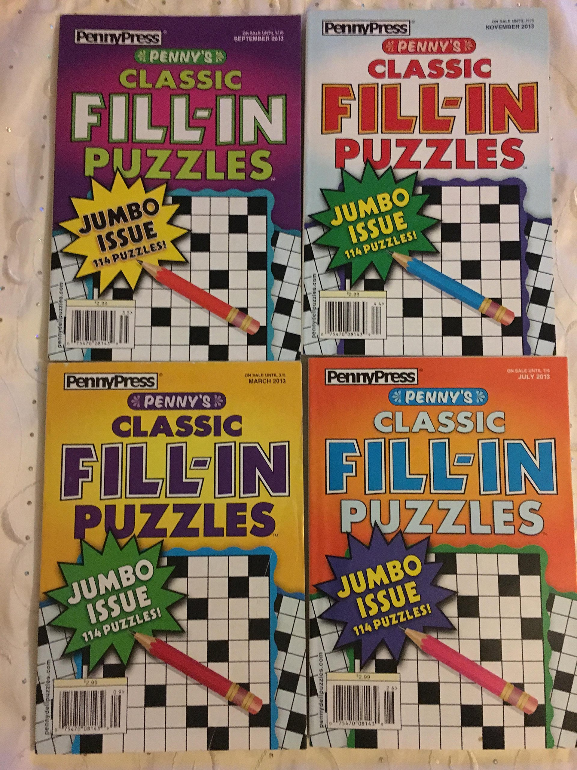 Read Online Lot of 4 Penny Press Classic Fill-In Puzzles Jumbo Books 2013 Lot #2 pdf