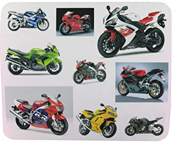 Superbikes Tapis De Souris G304 Yamaha Kawasaki Suzuki Motos