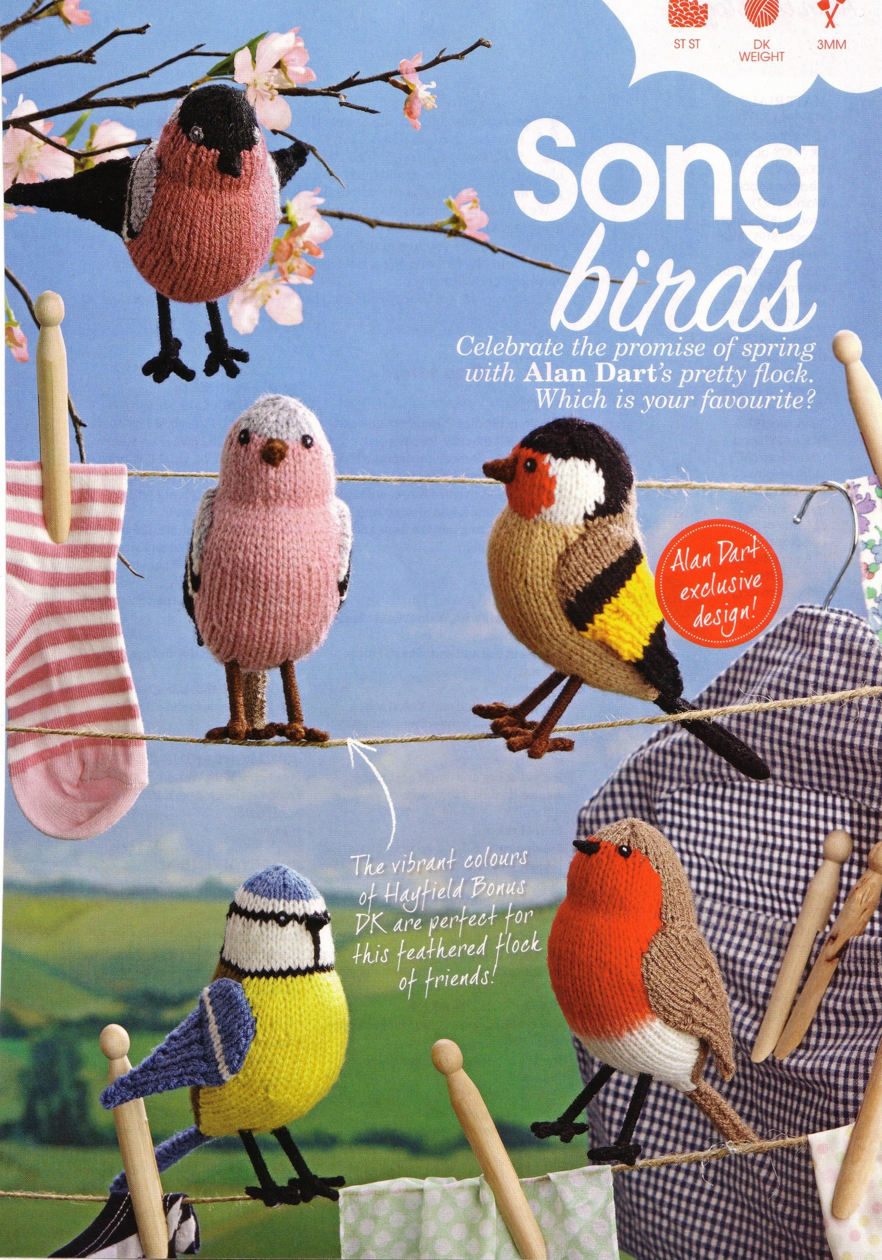 Song birds toy knitting pattern by Alan Dart (simply knitting ...
