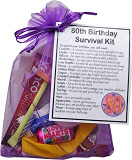 SMILE GIFTS UK 80th Birthday Survival Kit Gift