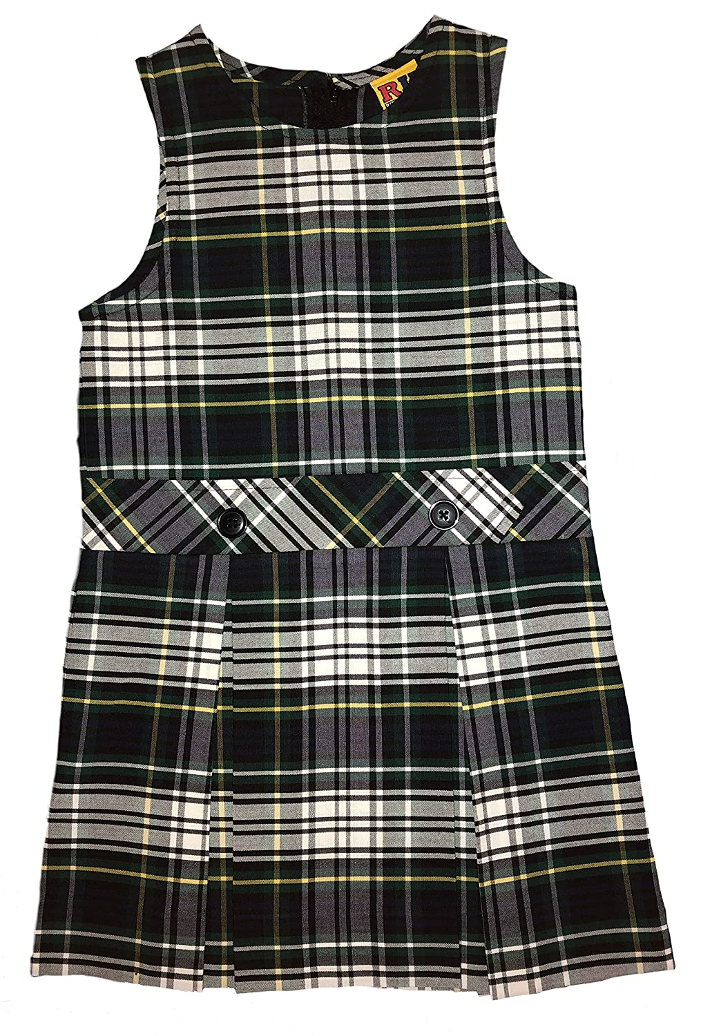 Rifle Girls Drop Waist Jumper Plaid 35 194350J035-PARENT