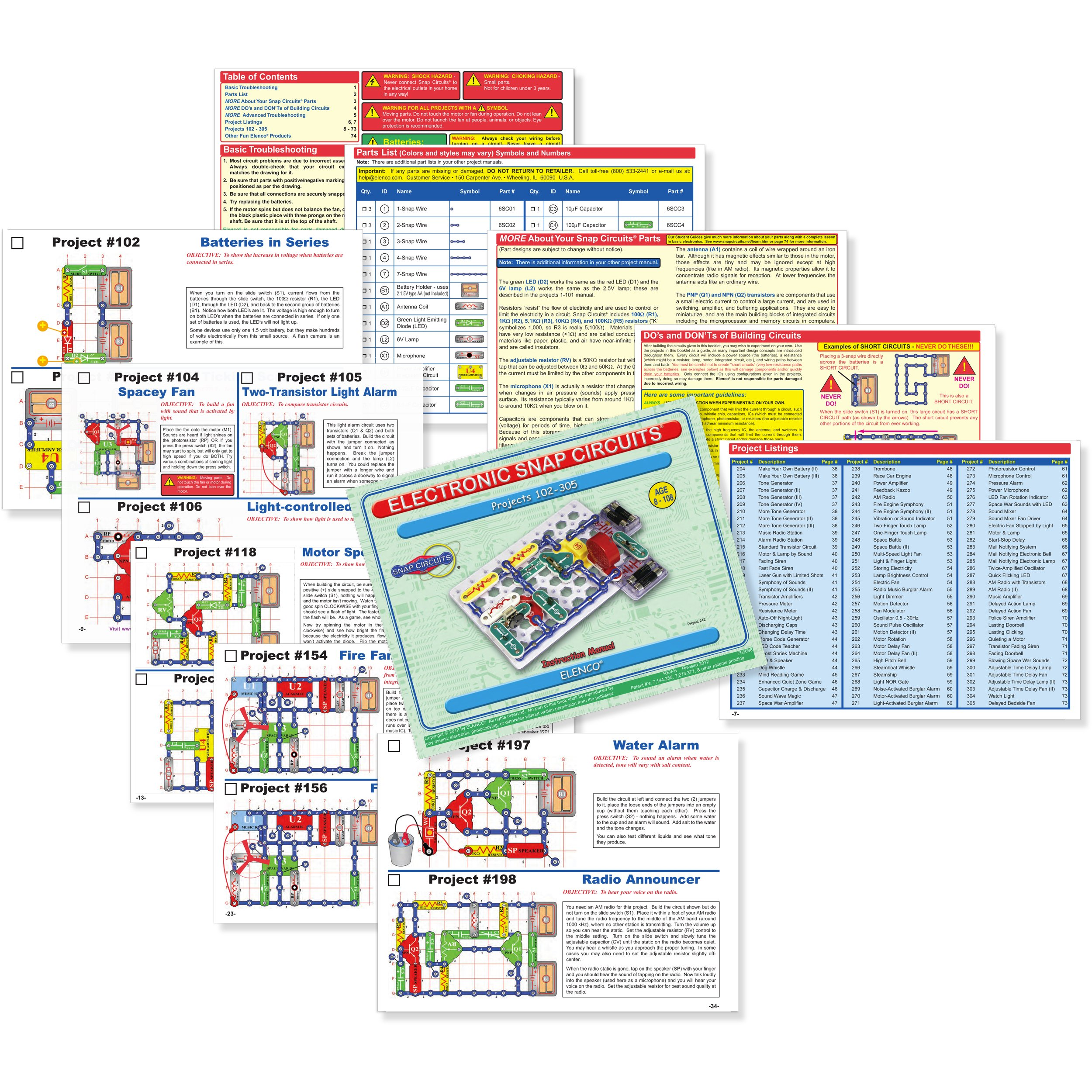 Snap Circuits Classic SC-300 Electronics Exploration Kit | Over 300 STEM Projects | 4-Color Project Manual | 60 Snap Modules | Unlimited Fun by Snap Circuits (Image #6)