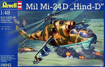 Amazon.com: rvg04942 1: 48 Revell Alemania mil mi-24d hind-d ...