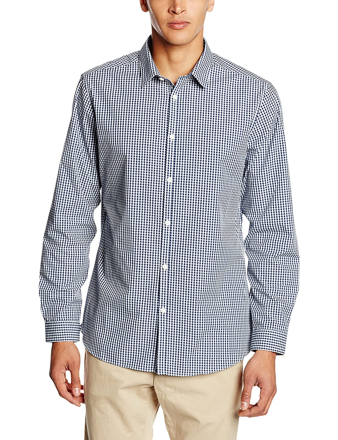 TALLA M. New Look Smart Gingham, Camisa para Hombre