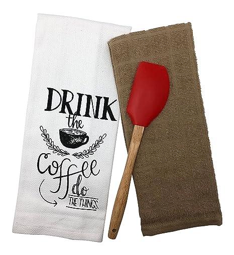 Juego de 2 toallas de cocina para cocina, regalo de Hostess o regalo de inauguración