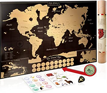 Gold scratch off world map poster with us states canadian gold scratch off world map poster with us states canadian provinces a travel gumiabroncs Gallery