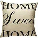"""Decorbox Home Sweet Home Simple Words Big Love Burlap Cushion Covers Pillow Case 18"""" x 18"""""""