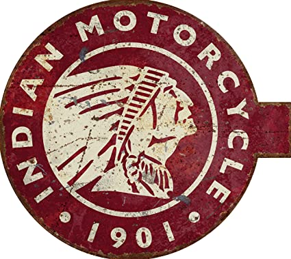 Amazon Indian Motorcycle Vintage Marquee Style Pub Sign Home