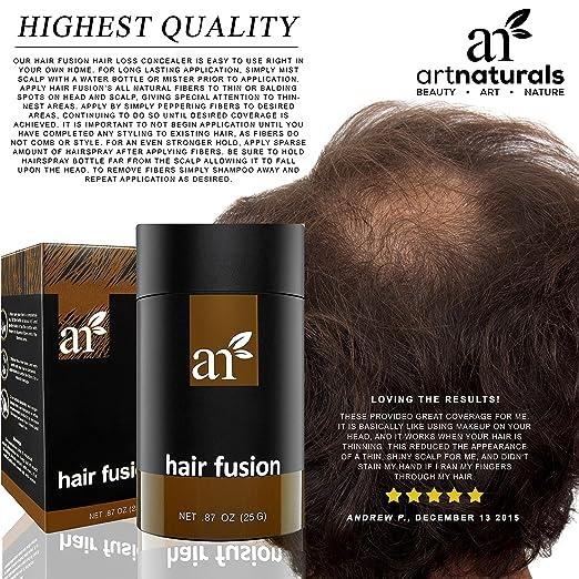 Amazon.com : Art Naturals Hair Fusion - Black - Hair Building ...