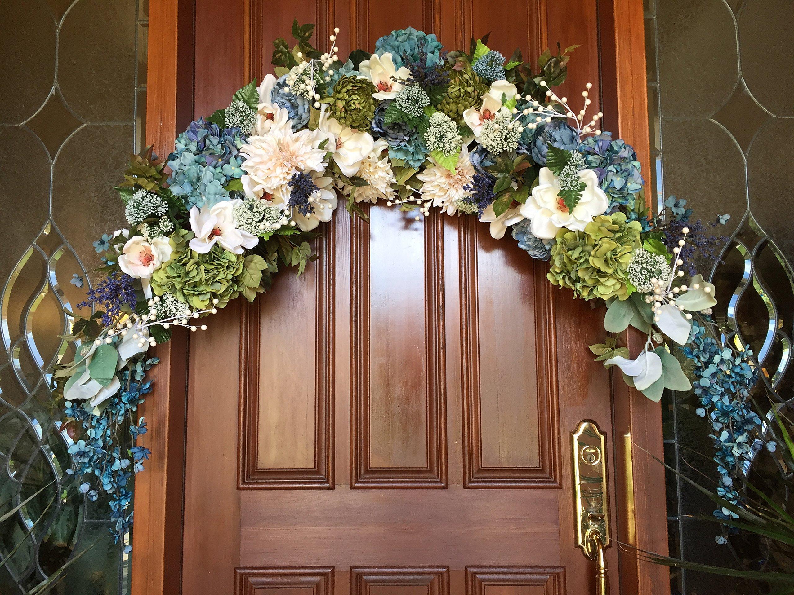 Floral Wedding Arch, Bridal Floral Arch, Floral Bridal Swag, Beach Wedding Floral Arch, Floral Swag, Wedding Floral, Elegant Floral Swag by Beauty & the BLOOM