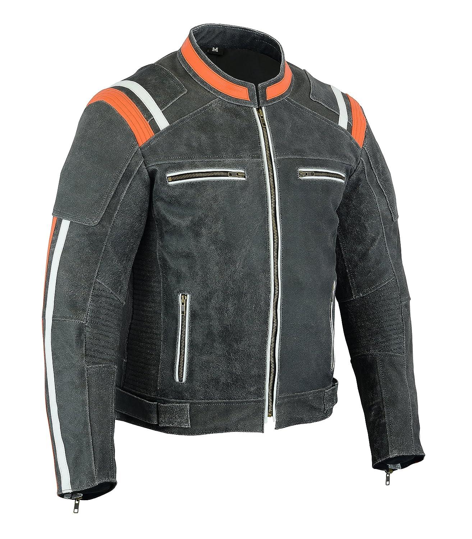 dise/ño de motocicleta Chaqueta de piel para hombre LeatherTeknik JACKET DC-4099 alta protecci/ón
