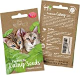 PRETTY KITTY Catnip seeds for planting - Premium catnip for cats (Nepeta cataria) to grow 150 catnip plants