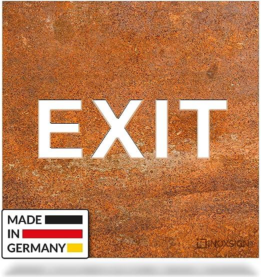 INOXSIGN - Cartel de Aviso Vintage Exit H.81.R - Cartel de ...