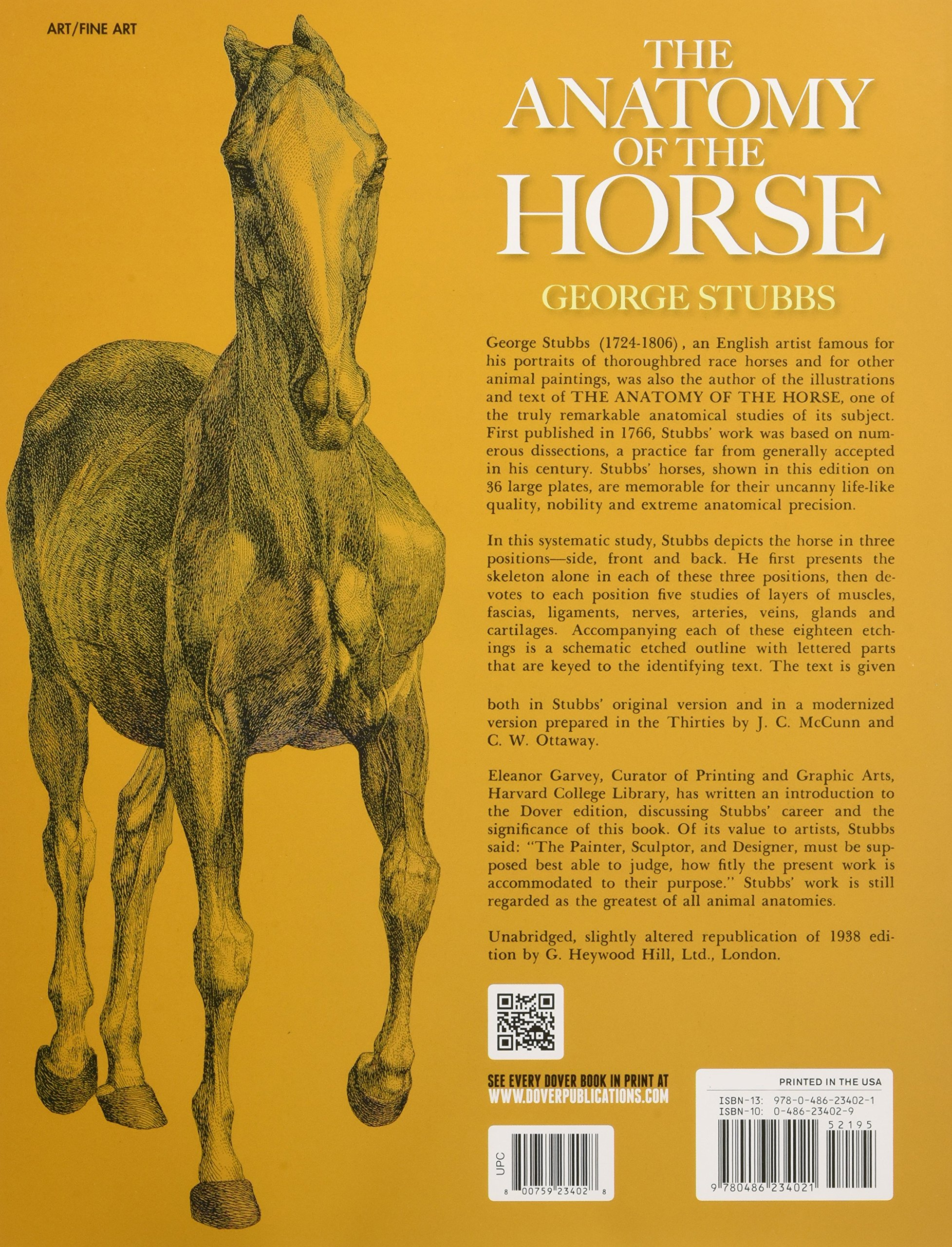 The Anatomy of the Horse (Dover Anatomy for Artists): Amazon.co.uk ...
